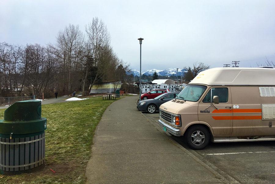 Generic-Van-Life-Camping-Spot-Courtenay-Riverway-Park-British-Columbia-Van