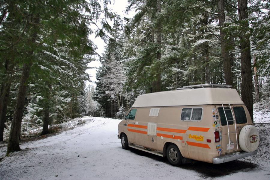 Generic-Van-Life-Camping-Spot-Echo-Lake-British-Columbia-Van