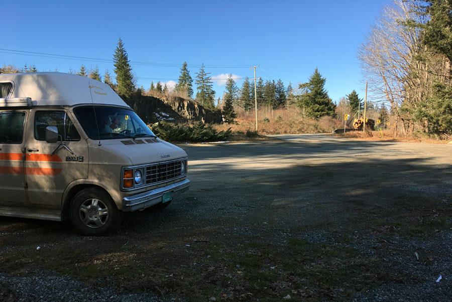 Generic-Van-Life-Camping-Spot-Highway-19-Turnout-British-Columbia-Spot