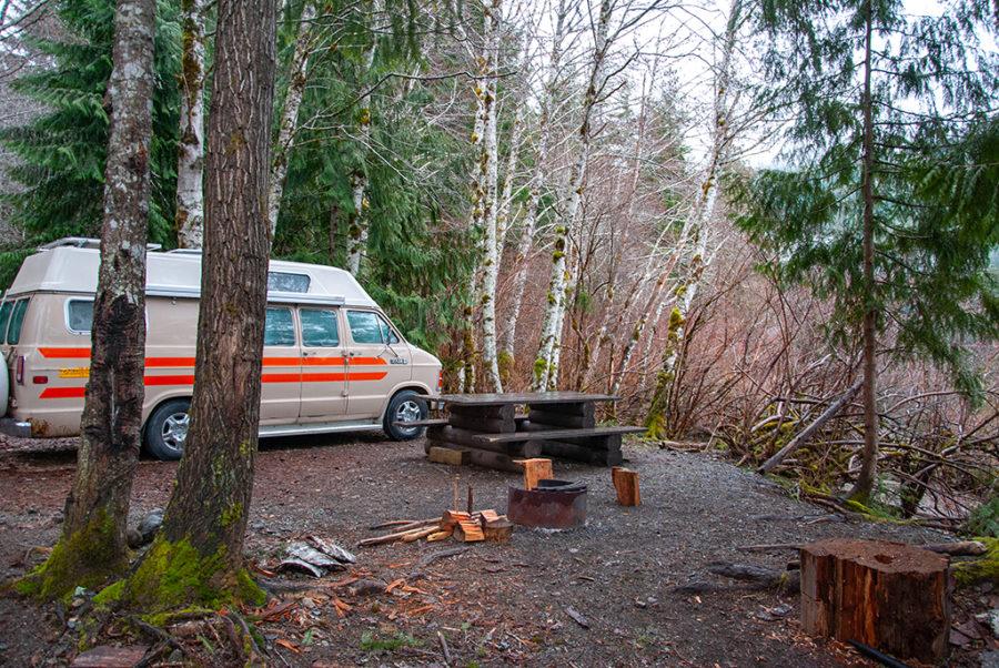 Generic-Van-Life-Camping-Spot-Muchalat-Lake-British-Columbia-Fire-Ring