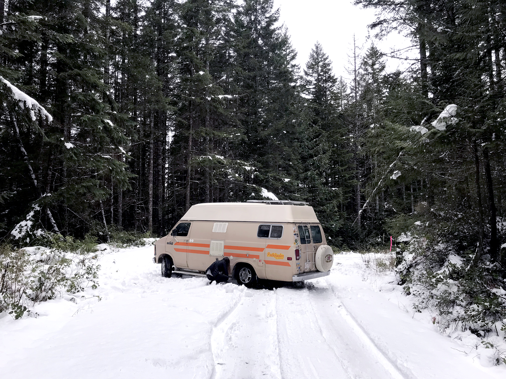 Generic Van Life - Winterization Tips for Vanlife Part II - Stuck in the Snow