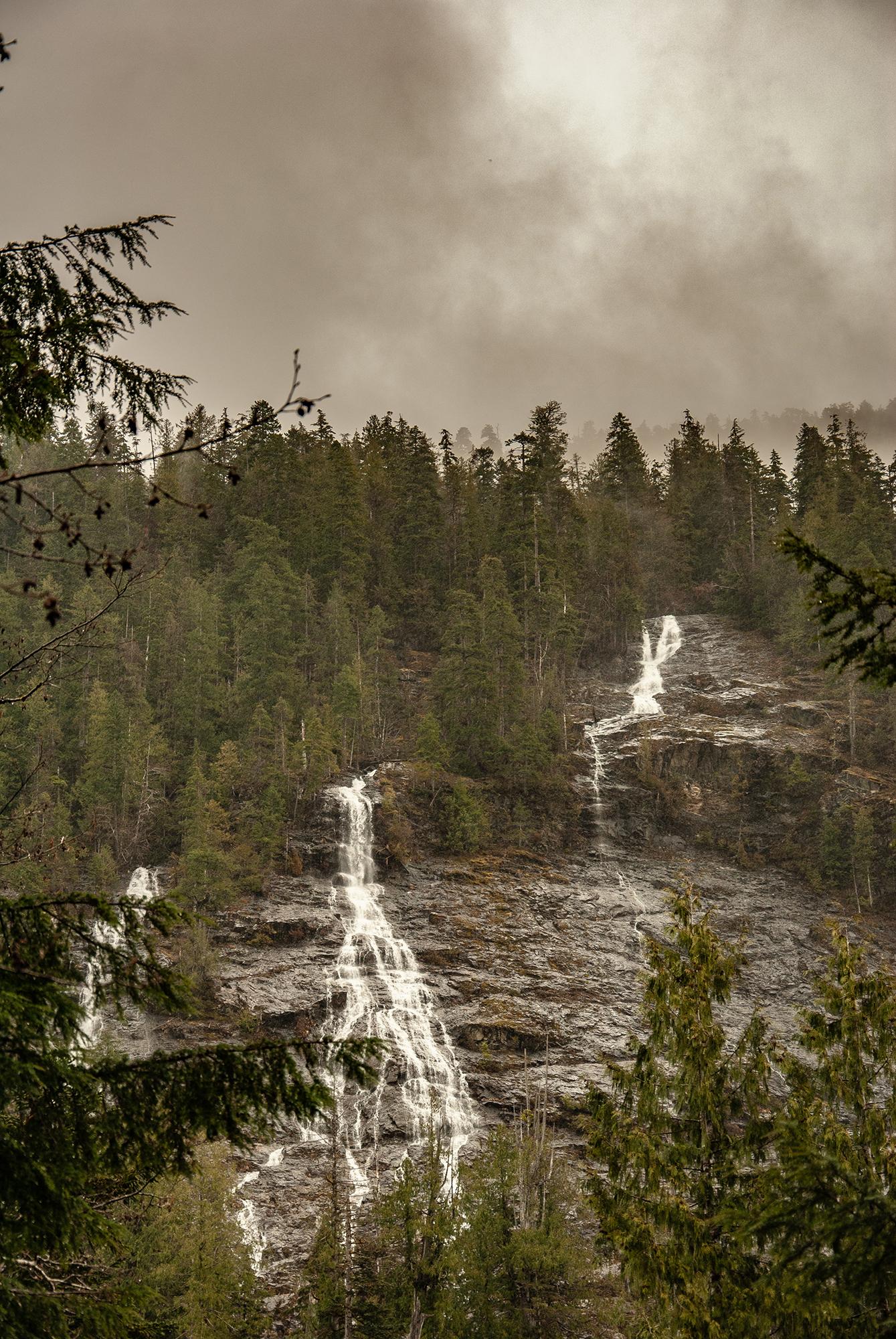 Generic Van Life - The Ultimate Vancouver Island Road Trip - Three Sisters Waterfall