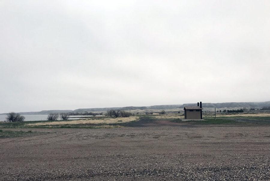 Generic-Van-Life-Camping-Spot-Grayrocks-Reservoir-Wyoming-Outhouse