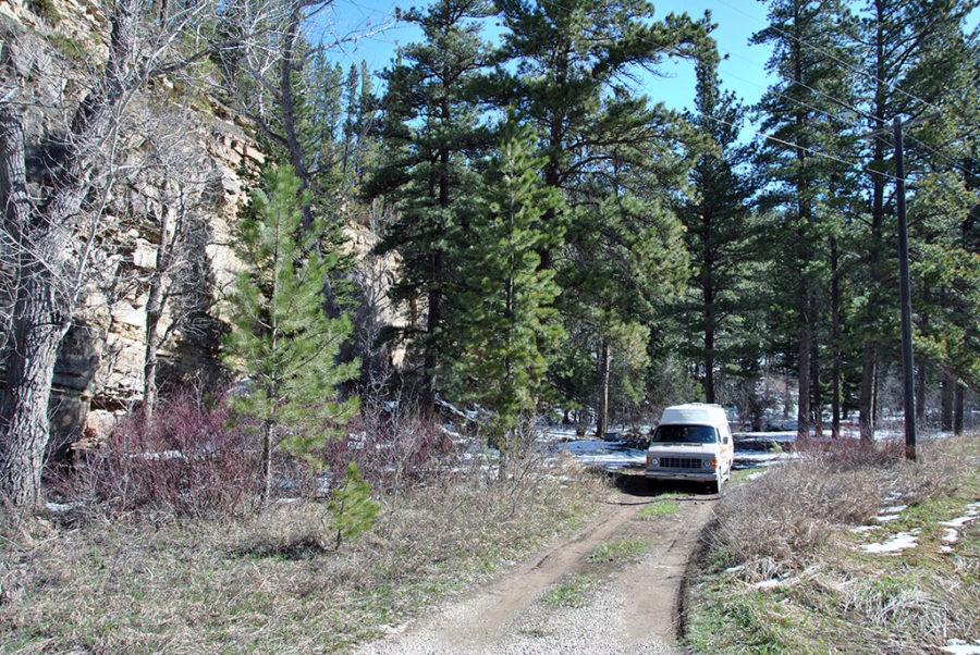 Generic-Van-Life-Camping-Spot-Hughesville-Canyon-Montana-Van