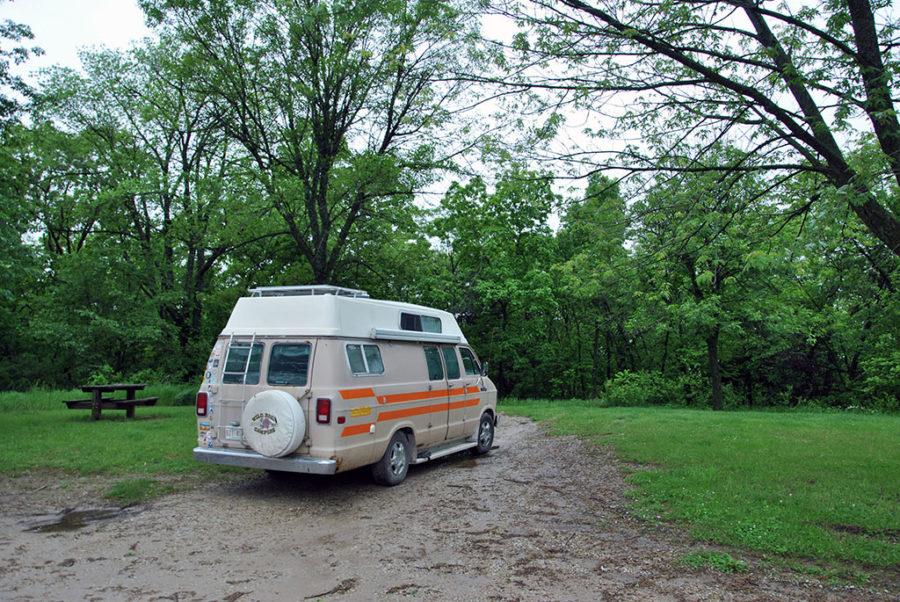 Generic-Van-Life-Camping-Spot-Hickory-Hills-Park-Iowa-Campsite