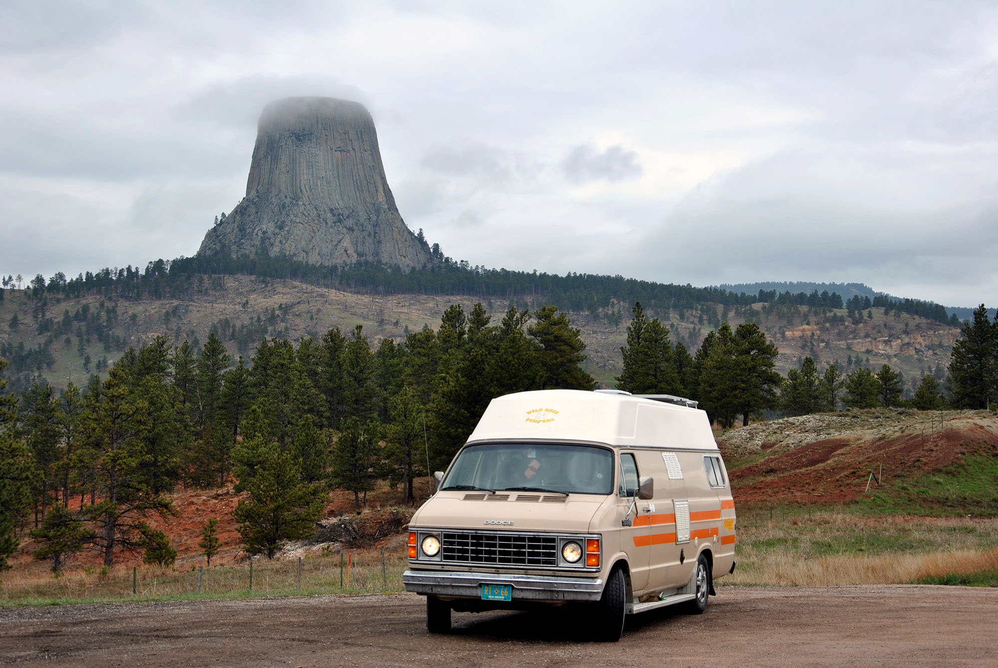 Generic Van Life - Dippin Back Down to the USA - Devils Tower Fog