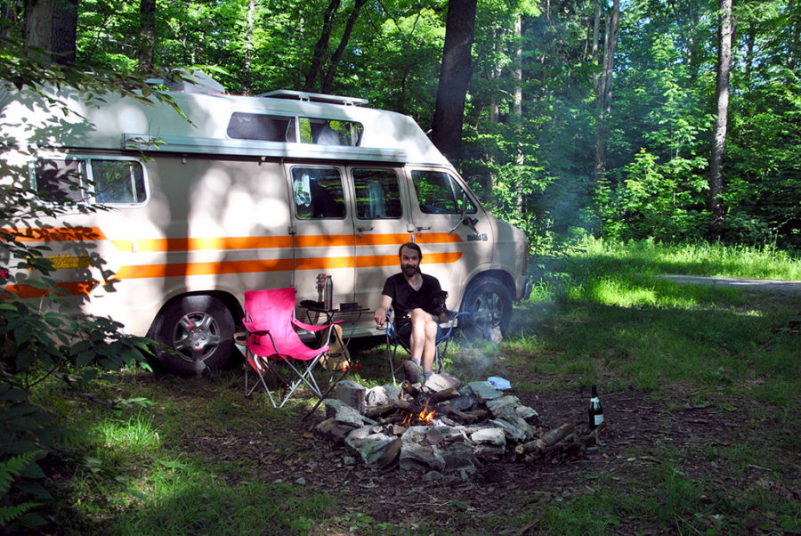 Generic-Van-Life-Camping-Spot-Stockton-State-Forest-New-York-Campfire